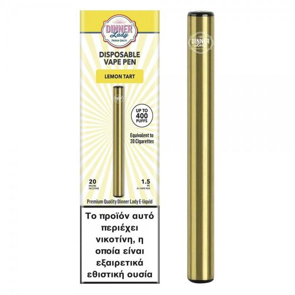 Starter kits - Dinner Lady Lemon Tart Disposable Vape Pen 20mg 1.5ml
