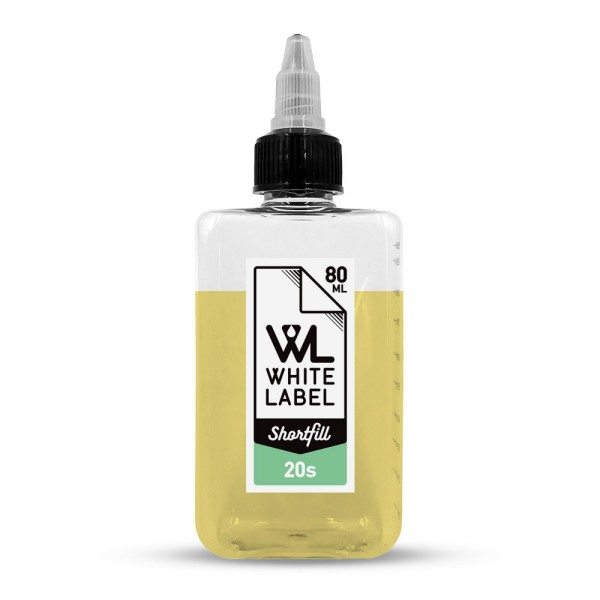 - 20's - White Label Shortfill 80/100 ml
