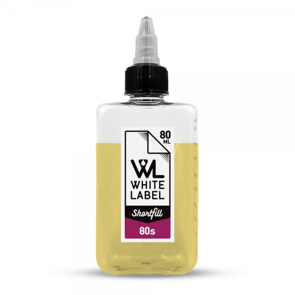 - 80's - White Label Shortfill 80/100 ml