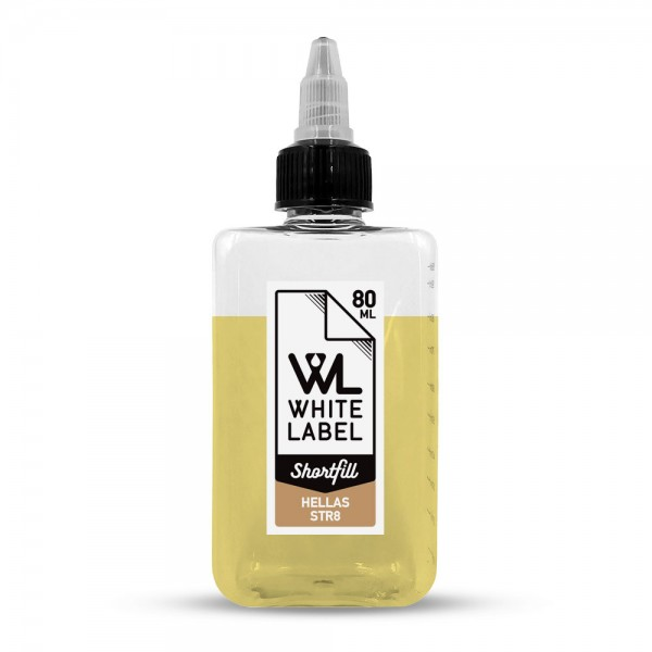 White Label Shortfill - Hellas Str8 - White Label Shortfill 80/100 ml