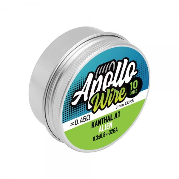 Wires & Cotton - Apollo Kanthal A1 Alien  0.3x0.8+32ga / 0.45ohm / 10 Coils