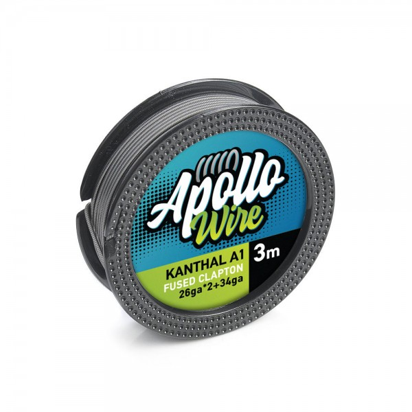 Σύρματα και Βαμβάκια - Apollo Kanthal A1 Fused Clapton Wire 2x26ga+34ga / 3m