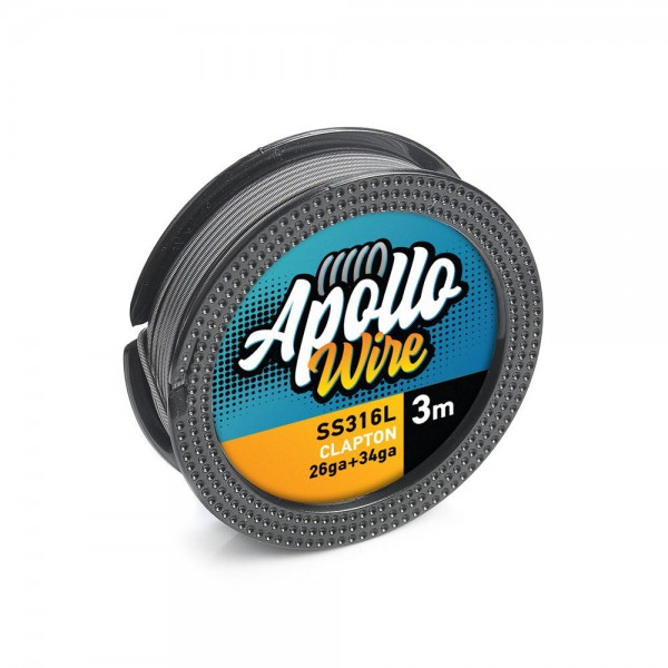 Wires & Cotton - Apollo SS 316L Clapton Wire 26ga+34ga / 3m