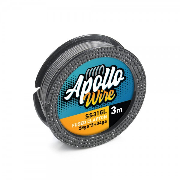 Apollo SS 316L Fused Clapton Wire 2x28ga...
