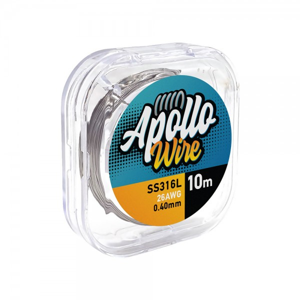 Apollo SS 316L Wire 26AWG / 0.40mm / 10m