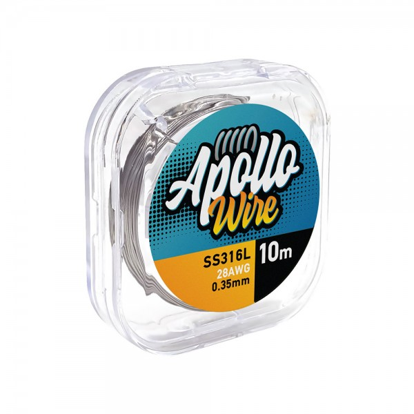 Wires & Cotton - Apollo SS 316L Wire 28AWG / 0.35mm / 10m