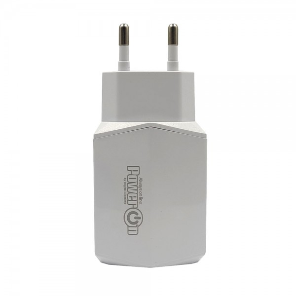 Chargers - PowerOn CH-85 Dual USB Quick charger 3.0