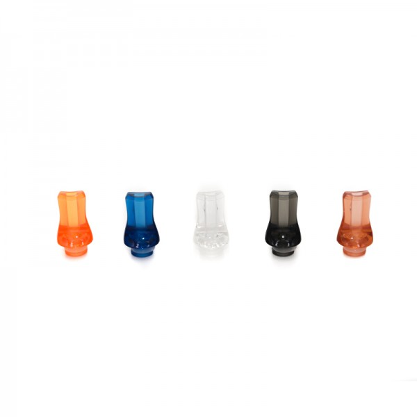 Filters & Drip Tips - Drip Tip Plastic Crystal Flat
