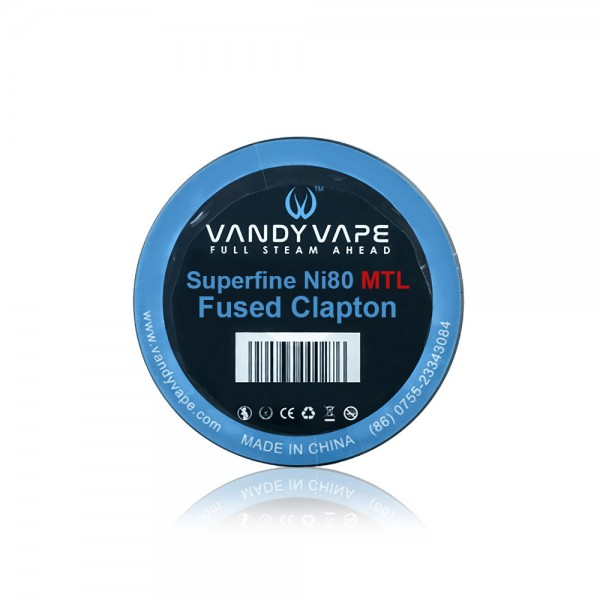 Various Parts - Vandy Vape Ni80 Superfine MTL Fused Clapton Wire - 3m