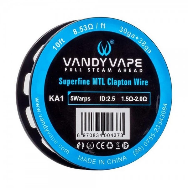 Σύρματα και Βαμβάκια - Vandy Vape Superfine MTL Fused Clapton A1
